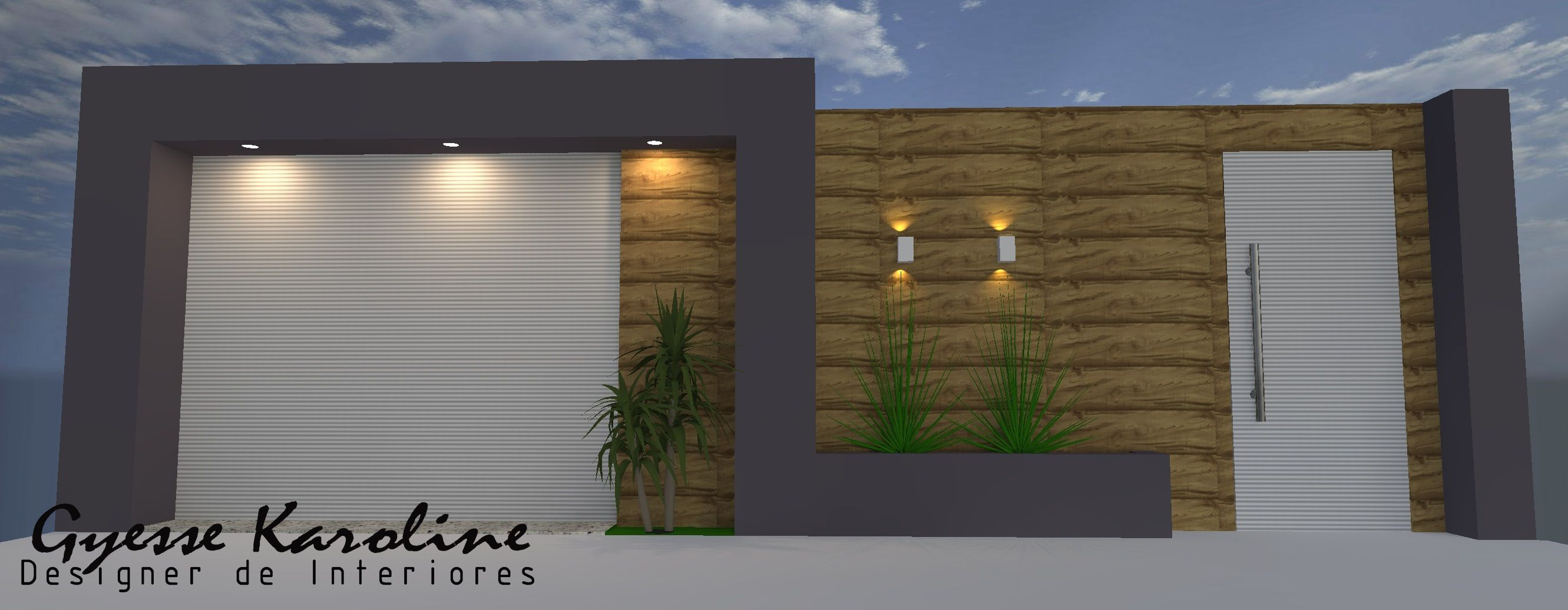 Modelos de fachadas e muros de casas pesquisa google for Modelo de fachada de casa