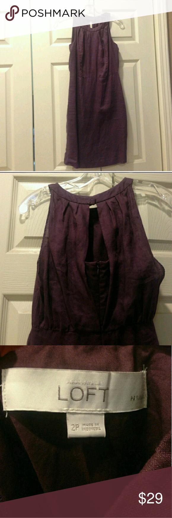 Ann Taylor Loft Dress 100% linen & lining 100% Cotton. Ann Taylor Dresses Midi