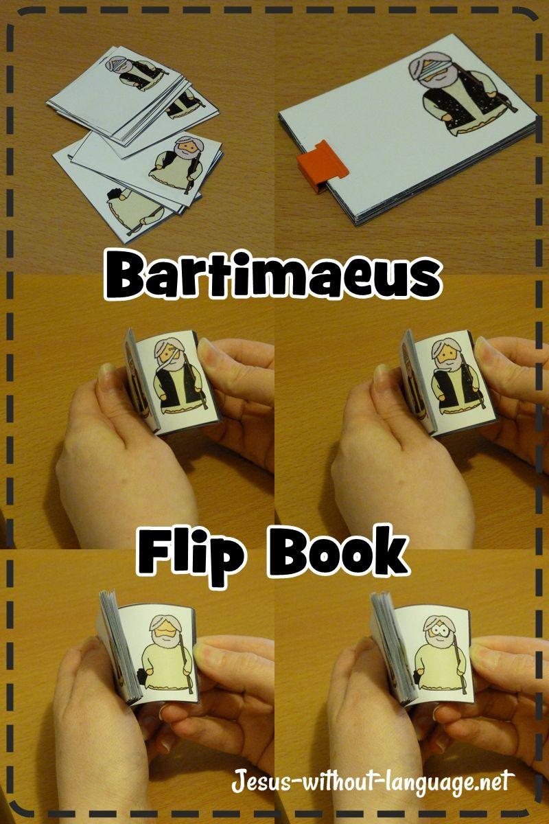 Blind Bartimaeus flip book | hittan | Pinterest | Escuela dominical ...