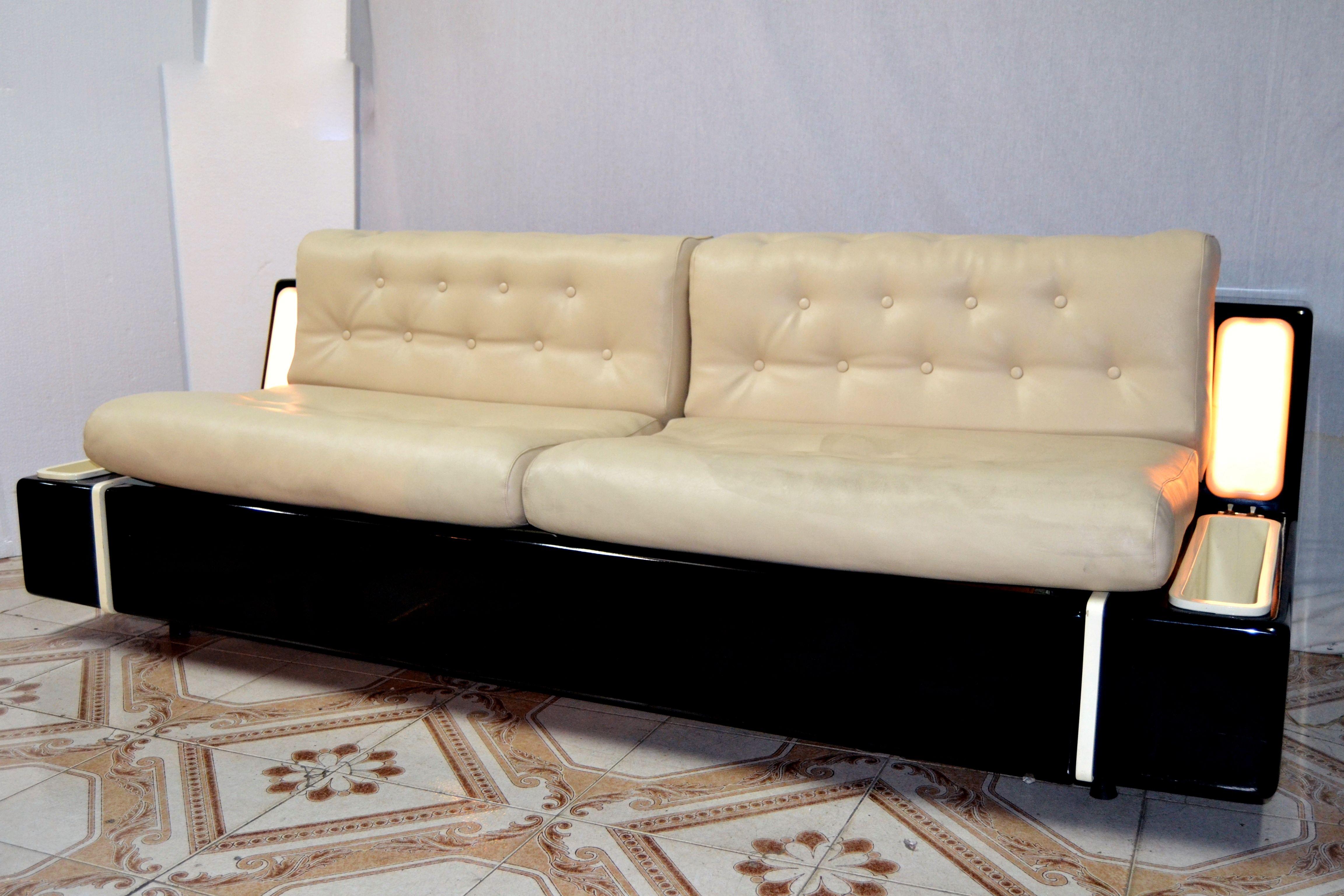 Divano Letto sofa couch, design Beka Mod. Tortuga In