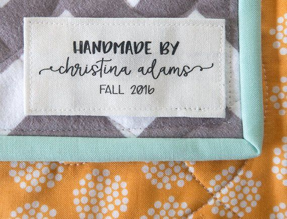 b78db925abdd personalized label, quilt tag, custom quilt label, sewing label ...
