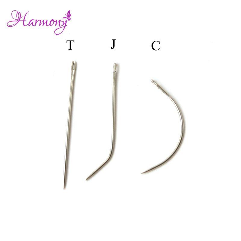 12pcs I J C Shape Hair Weaving Needle For Making Lace Wigcurved