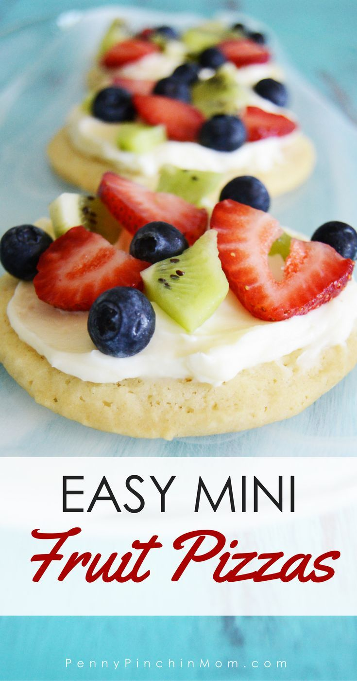Easy Mini Sugar Cookie Fruit Pizza Recipe