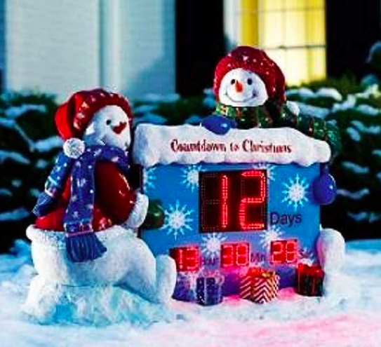 Outdoor Christmas Countdown Clock Decoration