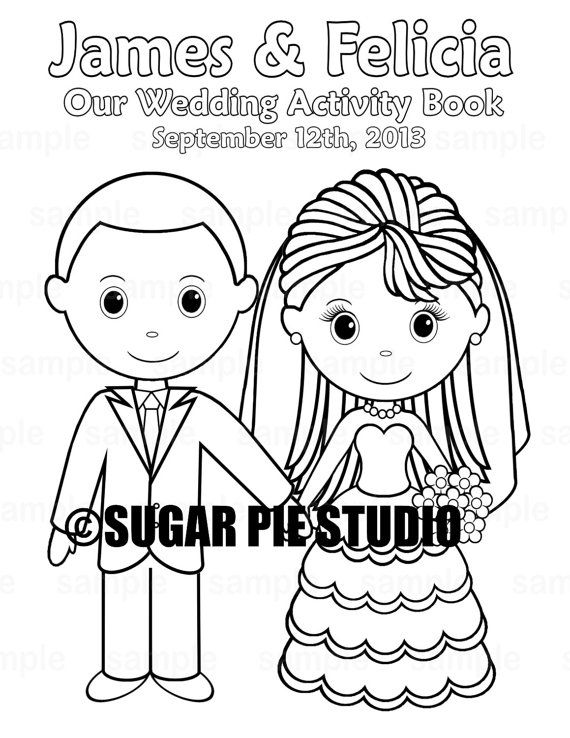 Printable Personalized Wedding coloring activity book Favor ...