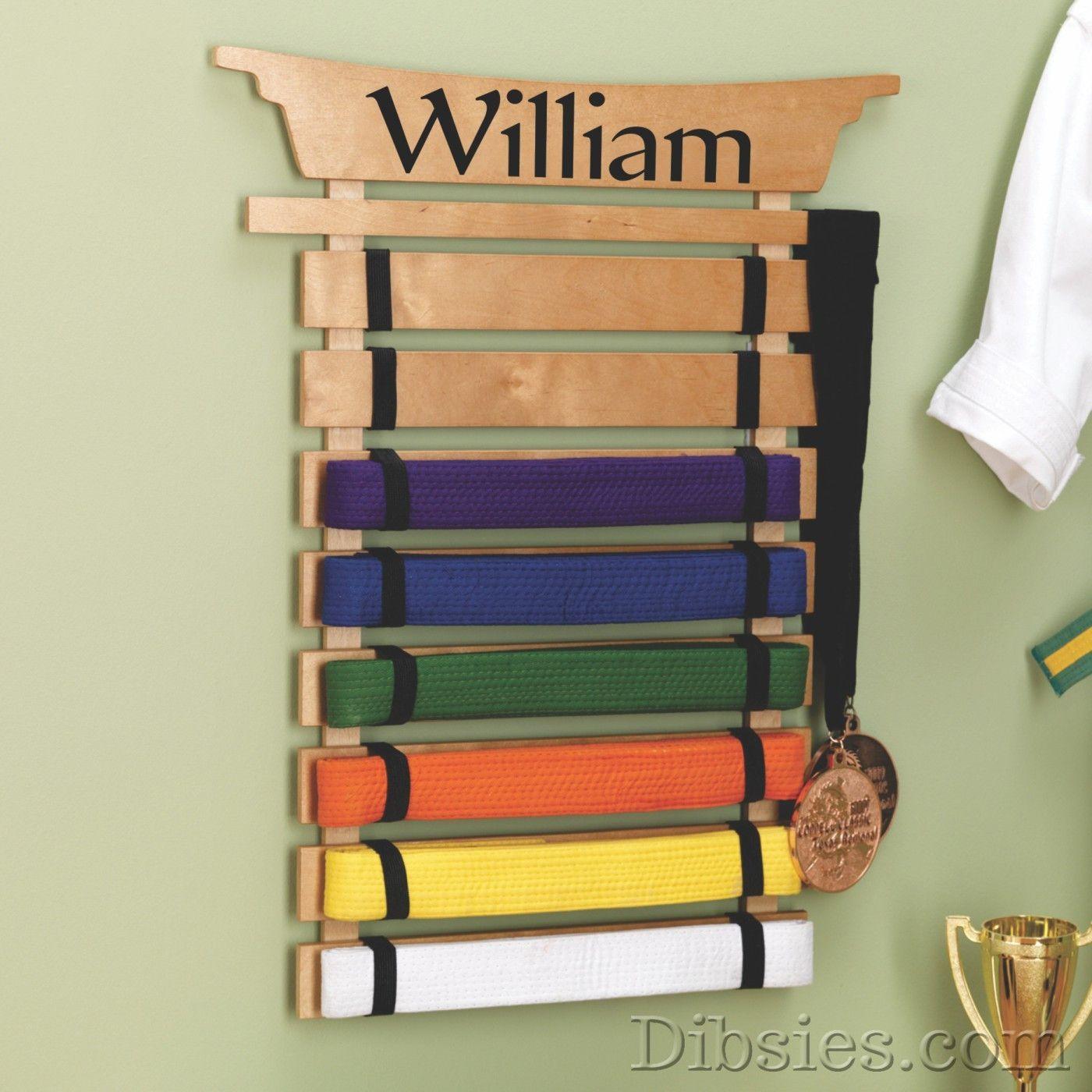 Karate belt display ideas - Personalized Karate Belt Display