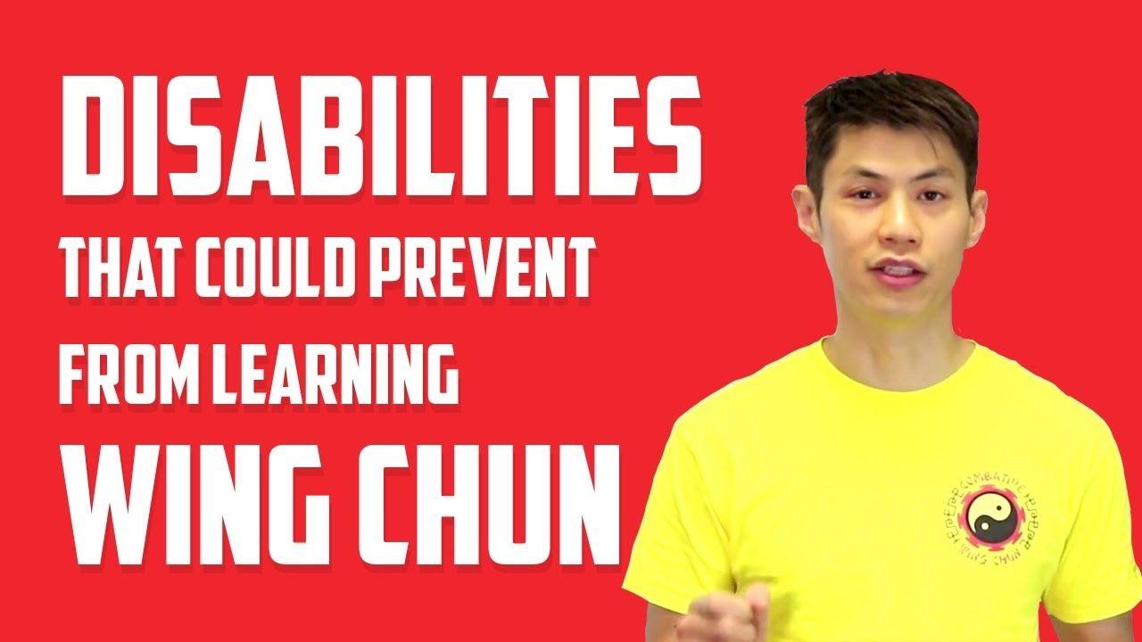 No disabilities can hinder learning wing chun martial arts