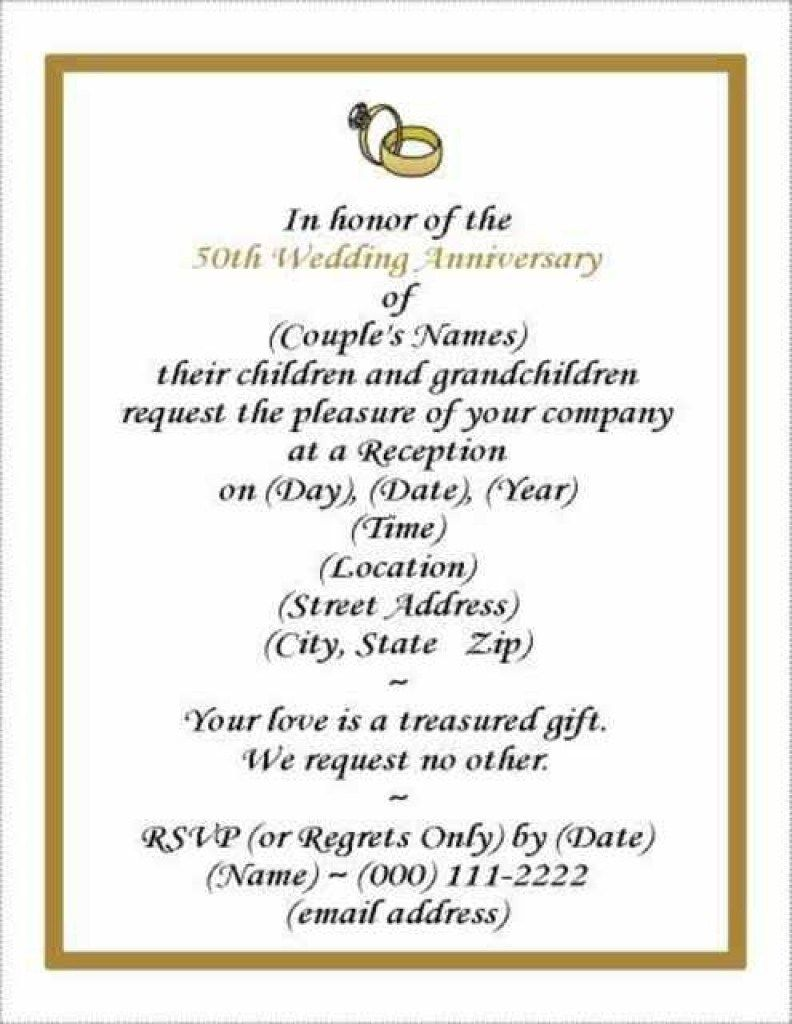32 Excellent Image Of 50 Wedding Anniversary Invitations