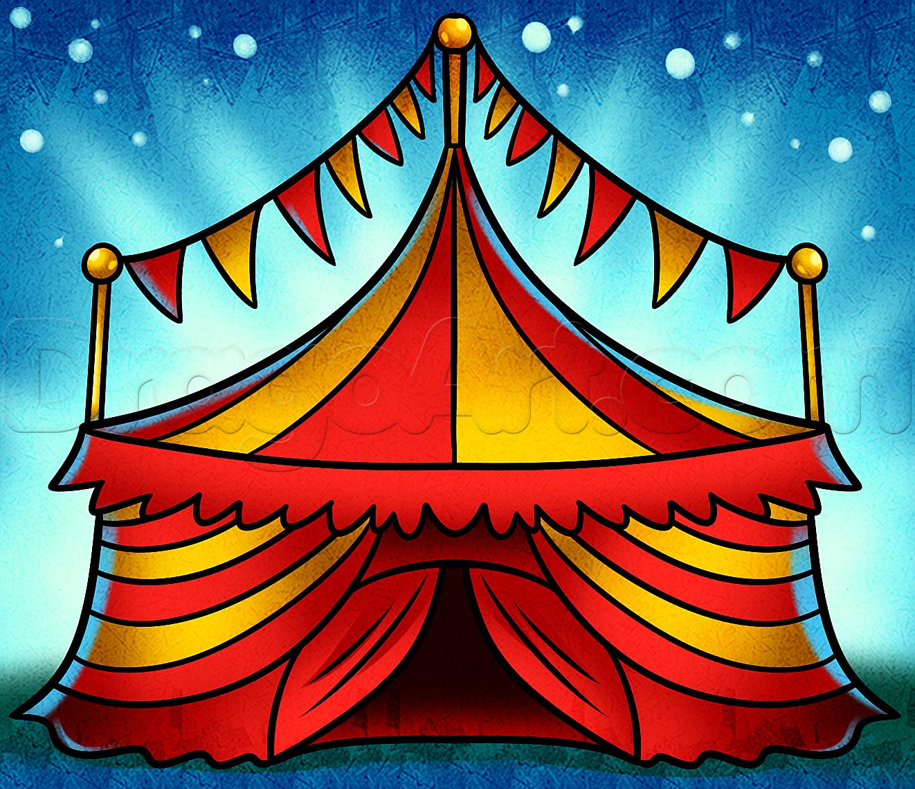 Картинки на тему цирк карандашом есть, при