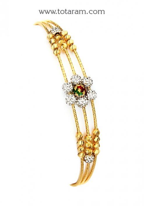 22K Gold Bangle Bracelet Totaram Jewelers Buy Indian Gold jewelry
