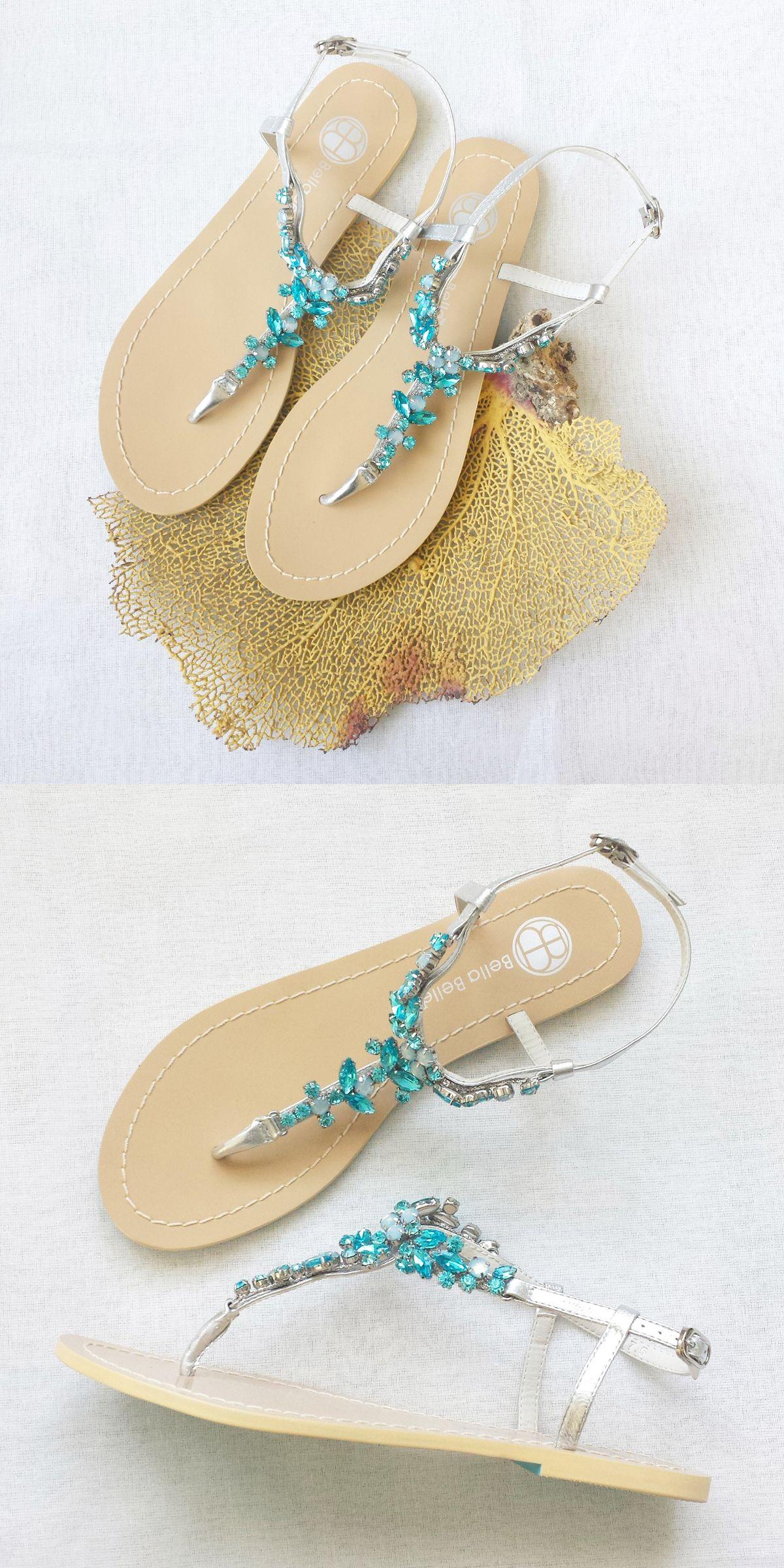 Something Blue Crystal Beach Wedding Sandals Weddingsandals Somethingblue