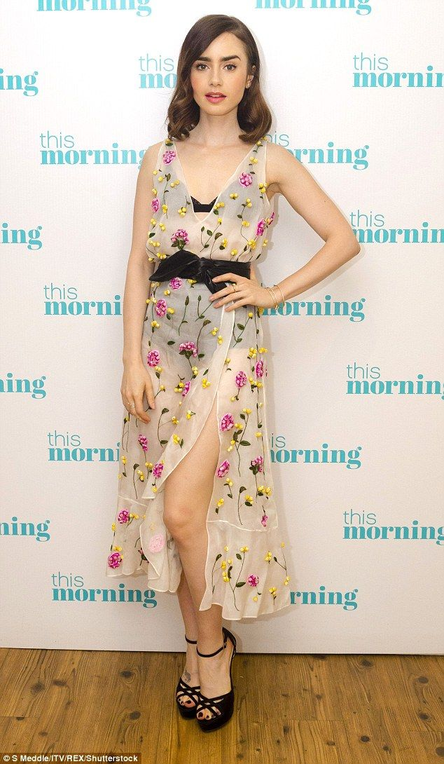 Tough call: Lily Collins admits she was 'apprehensive' about playing an anorexic woman in ...
