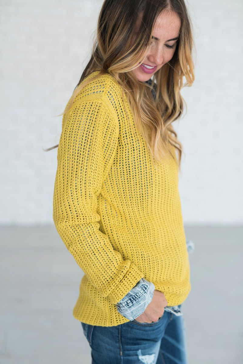 Why Not? Sweater - Misted Yellow