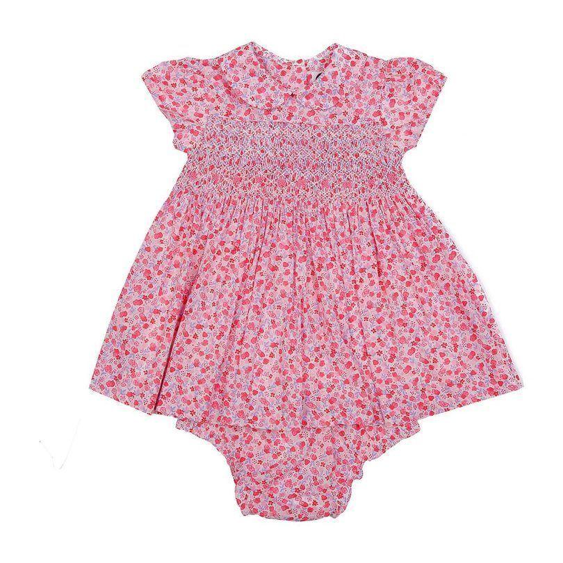 Elaina Baby Kleid, Pink Florals -  - #Baby #Elaina #florals #Kleid #pink