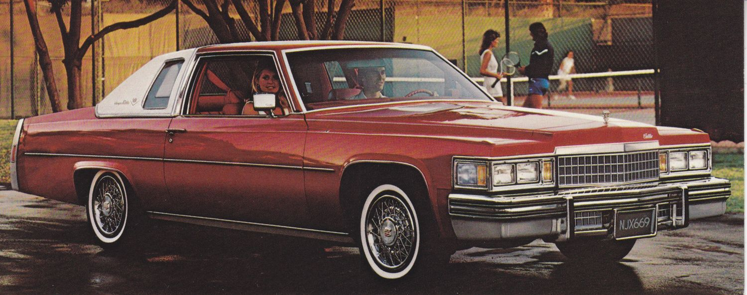 Cadillac Coupe Deville 1978 Fold Over Advertising Cards Sedan