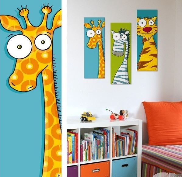 tableau animal original pour chambre b b et enfant tableau girafe tableau toile pinterest. Black Bedroom Furniture Sets. Home Design Ideas