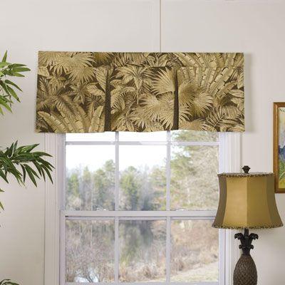 Tropical Window Treatments Decor Home Decor
