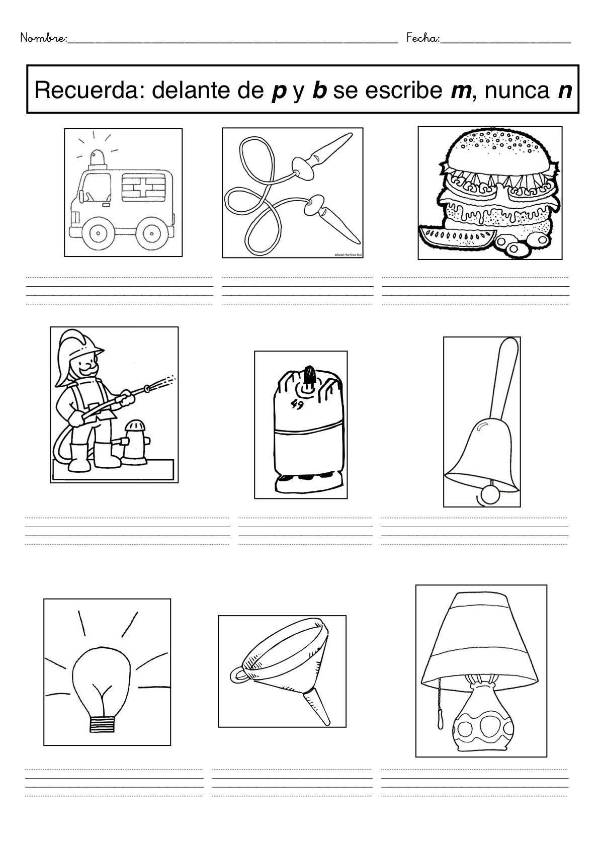 m antes de p y b ①   apoyo al aprendizaje   Pinterest