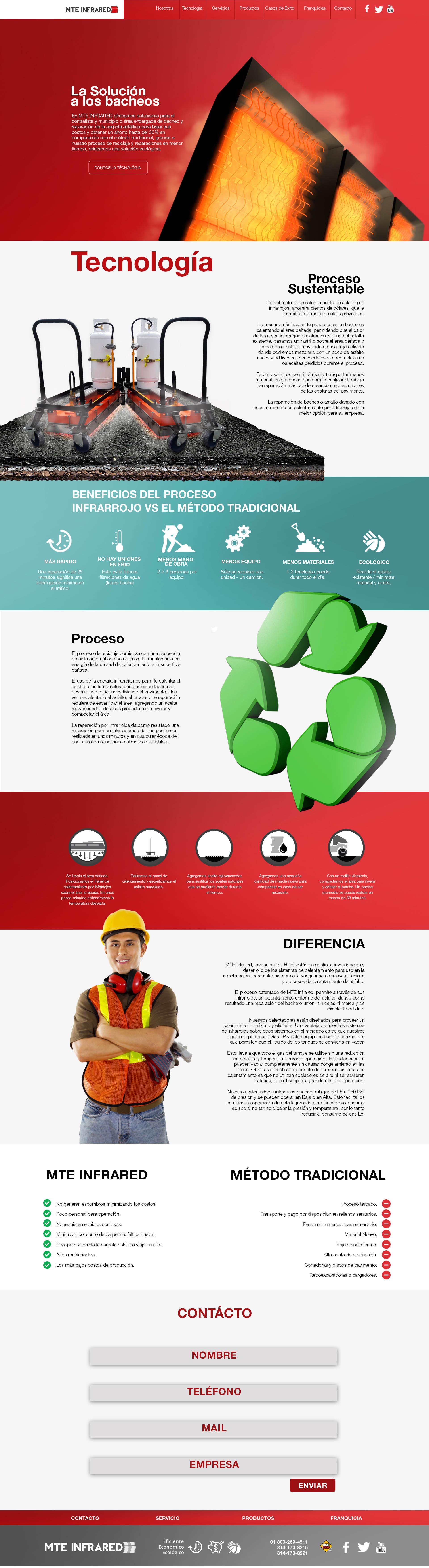Propuesta de Sitio Web para MTE Infrared.  Diseño Ramon Carrillo Agencia. DABmedia