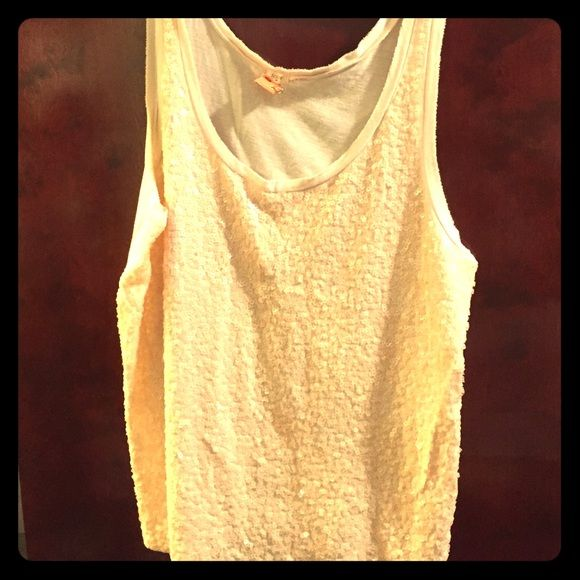 88805140b7491 soft pink sequin top comfortable light pink sequin tank top from J Crew.  sequined on the front only J. Crew Tops Tank Tops