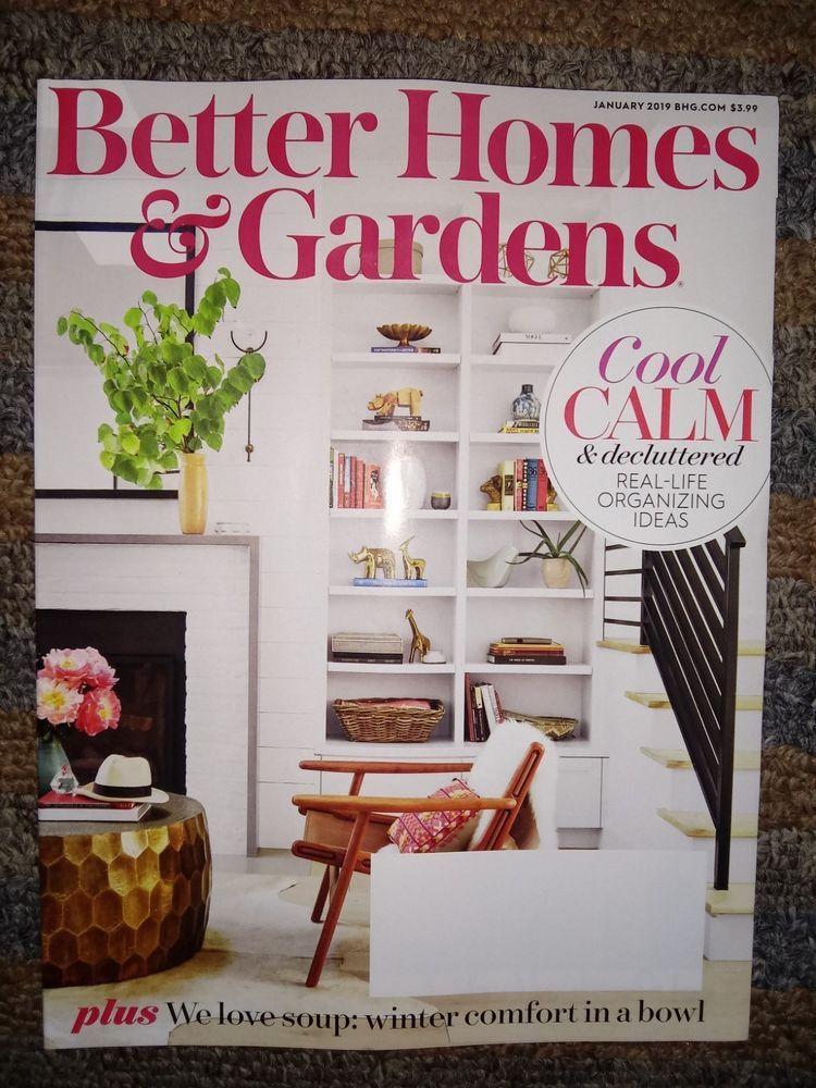 Better Homes Gardens Bhg Magazine Jan 2019 Declutter Recipes