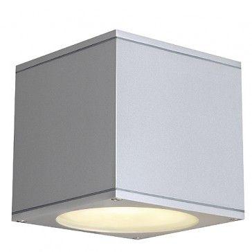 BIG THEO WALL OUT ES111 Wandleuchte, eckig, silbergrau, GU10, max. 75W / LED24-LED Shop