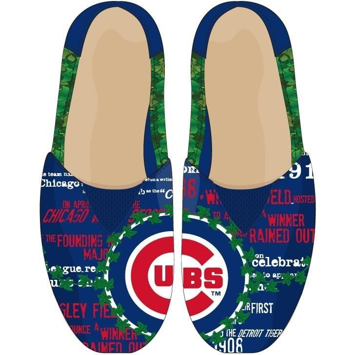 12b0e011118 Chicago Cubs MLB Thematic Womens Canvas Shoes