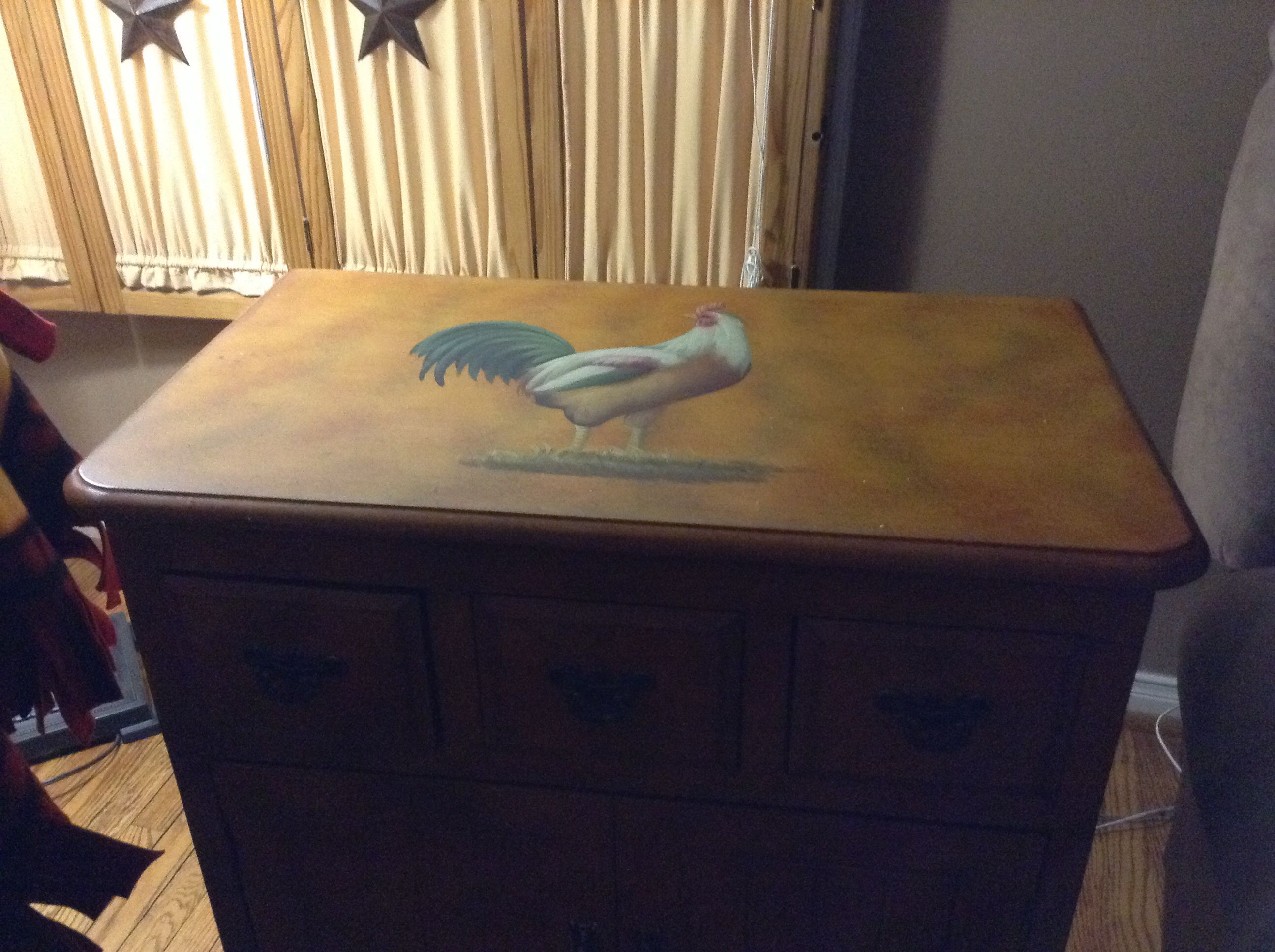 Rooster End Table