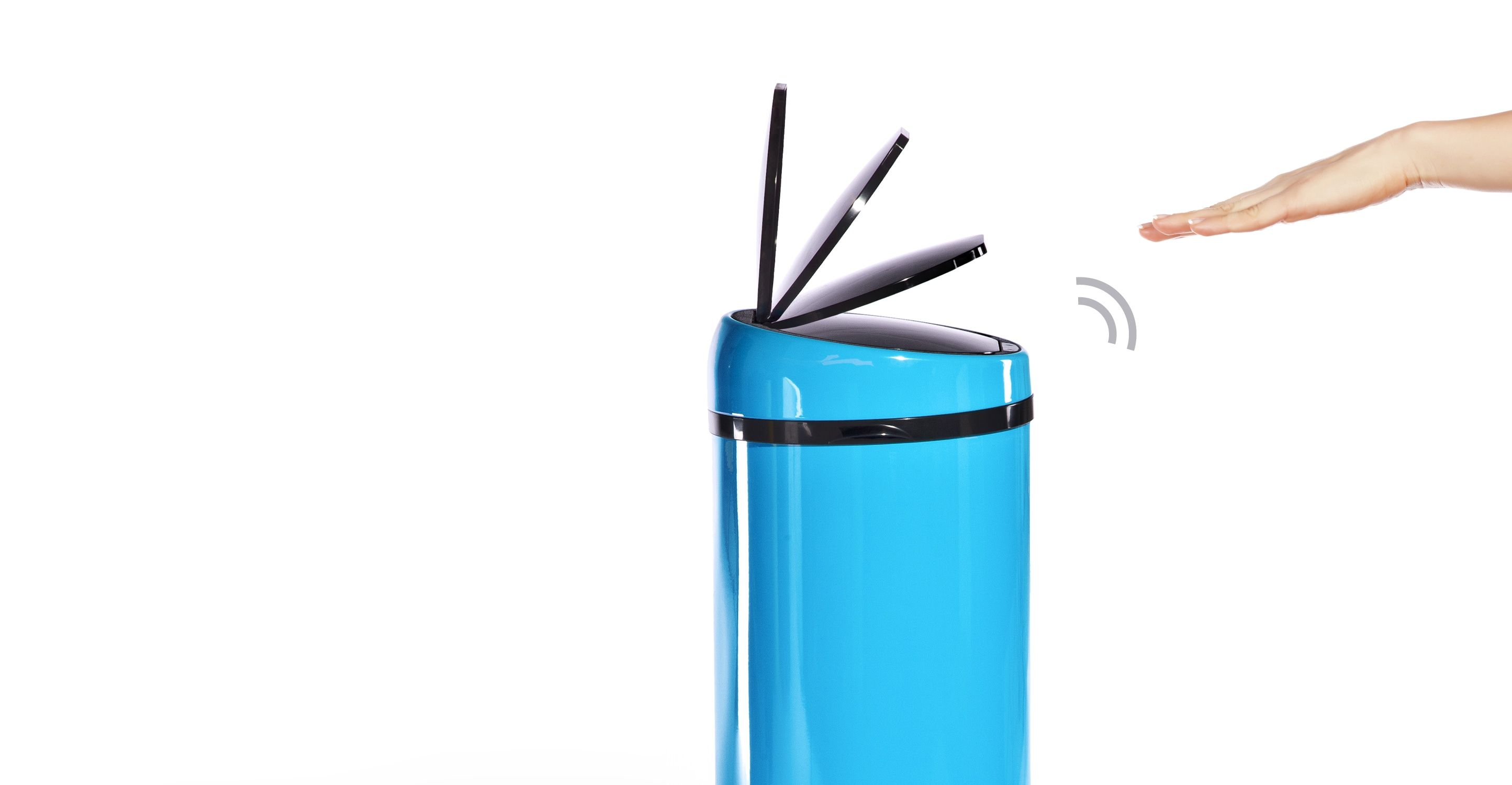 Modern Mülleimer Sensé Automatisch öffnender Eimer 50 L Blau