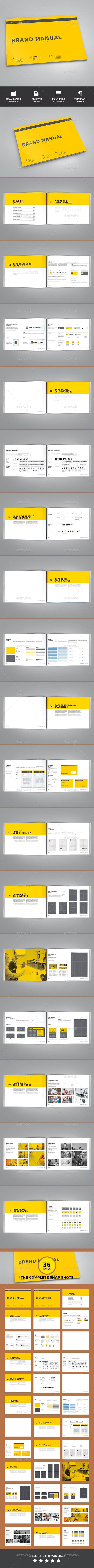 Brand Manual Template InDesign INDD 48 Pages A4 – It Manual Templates to Download