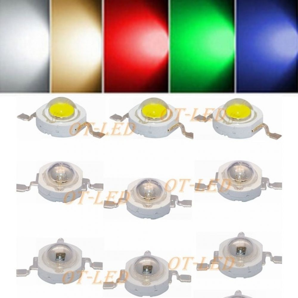 10pcs 1w 3w High Power Led Light Emitting Diode Leds Chip Smd Warm White Red Green Blue Yellow For Spotlight Downlight Lamp Bulb I Www Needfulstuff Co Za High Power Led Lights Light Emitting Diode