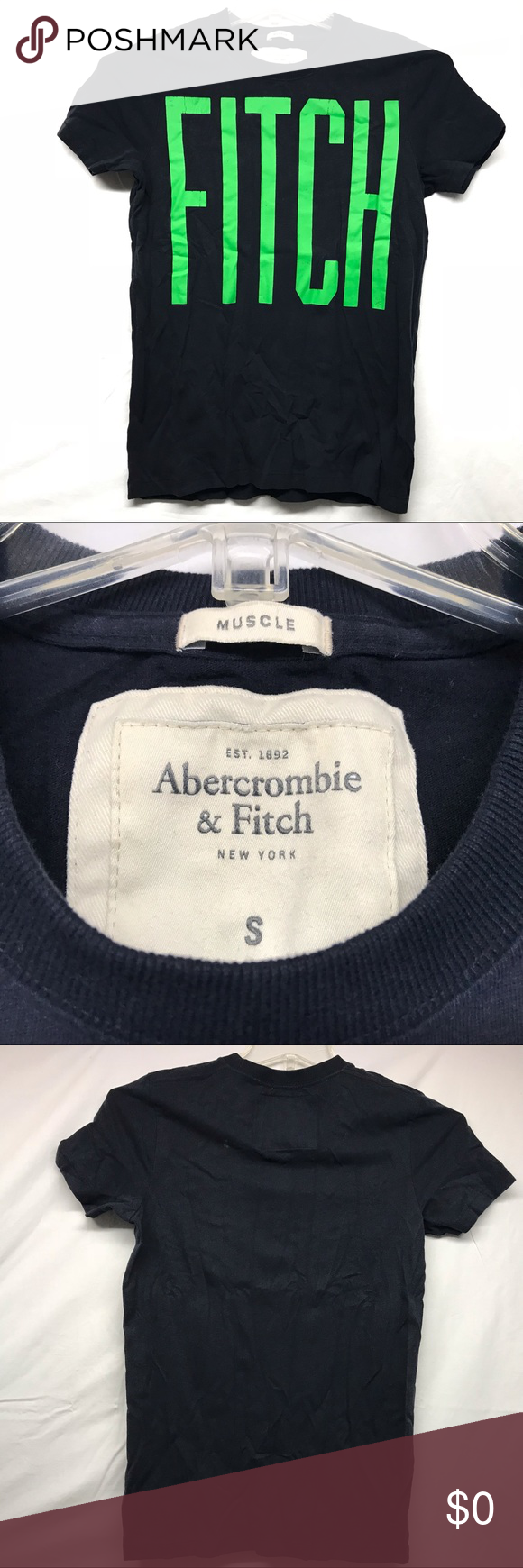 cf0b2901 Abercrombie & Fitch New York Mens S Muscle Shirt Item: Abercrombie and Fitch  New York Mens Small Muscle Tee Shirt Green Lettering Condition: Great used  ...