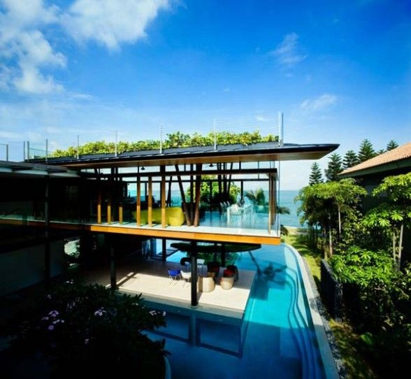 A Modern Tropical Bungalow Design