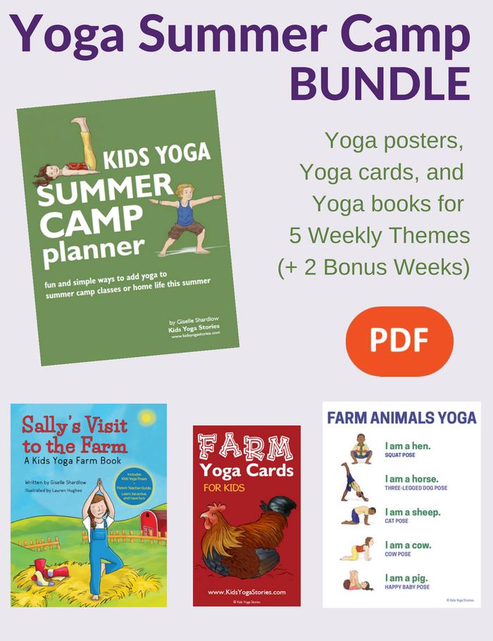 Kids Yoga Summer Camp Bundle Yoga For Kids Teaching Yoga To Kids Summer Camp