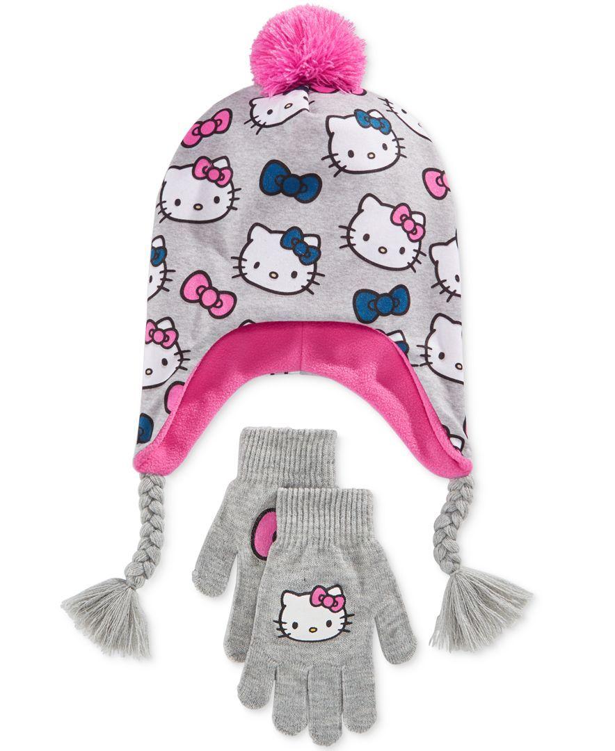 5bdab1136cc Berkshire Fashions Hello Kitty 2-Pc. Hat   Gloves Set