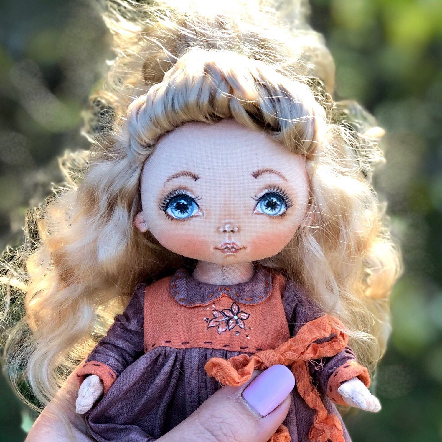 How to draw the face of a textile doll ? Tutorial on creating a soft doll for beginners . Masster class - the face of a handmade doll #dollfacepainting