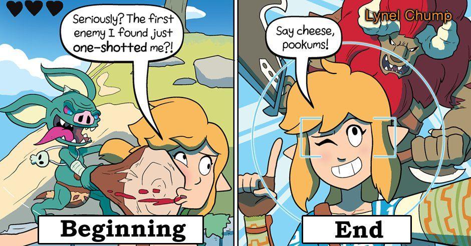 Zelda Breath Of The Wild Beginning Vs End The Legend Of Zelda