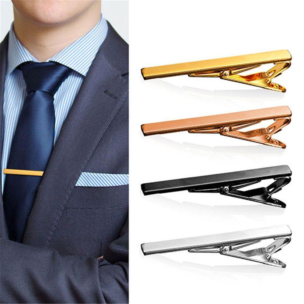 Nice Classic Black Square Gold Tone Design Vintage Men/'s Tie Bar Clip Jewelry