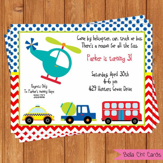 Il 570xn Cars Birthday Invitations Invites Transportation Otavio Tractor Boy