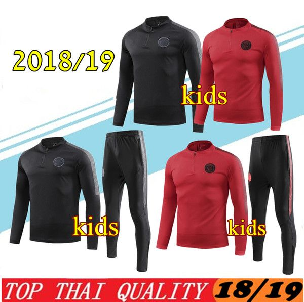 528e7525f10e 2019 2019 KIDS MBAPPE Hoodie PSG Soccer Training Suits 18 19 Survetement  CHAMPIONS LEAGUE JORDAM X Windbreaker Tracksuit CAVANI Football Shirts From  ...