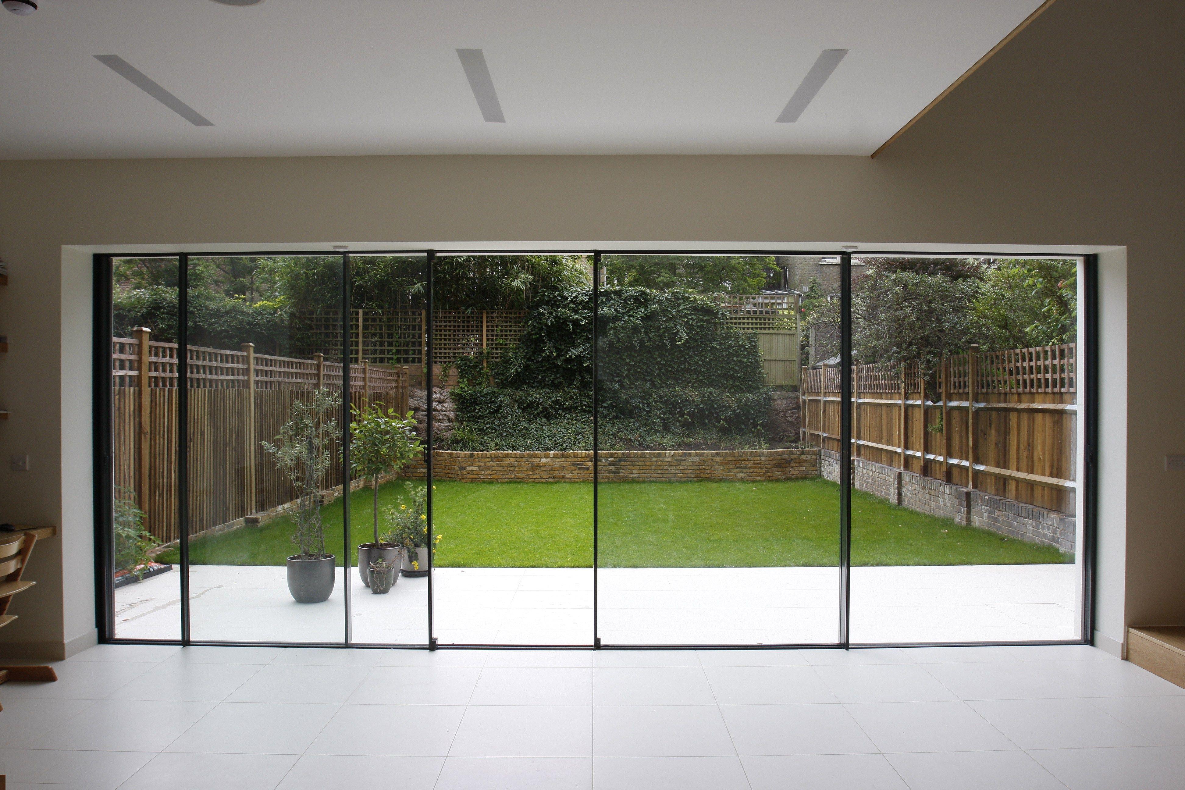 Perfect Bi Parting Minimal Windows Used As Modern Patio Doors In London