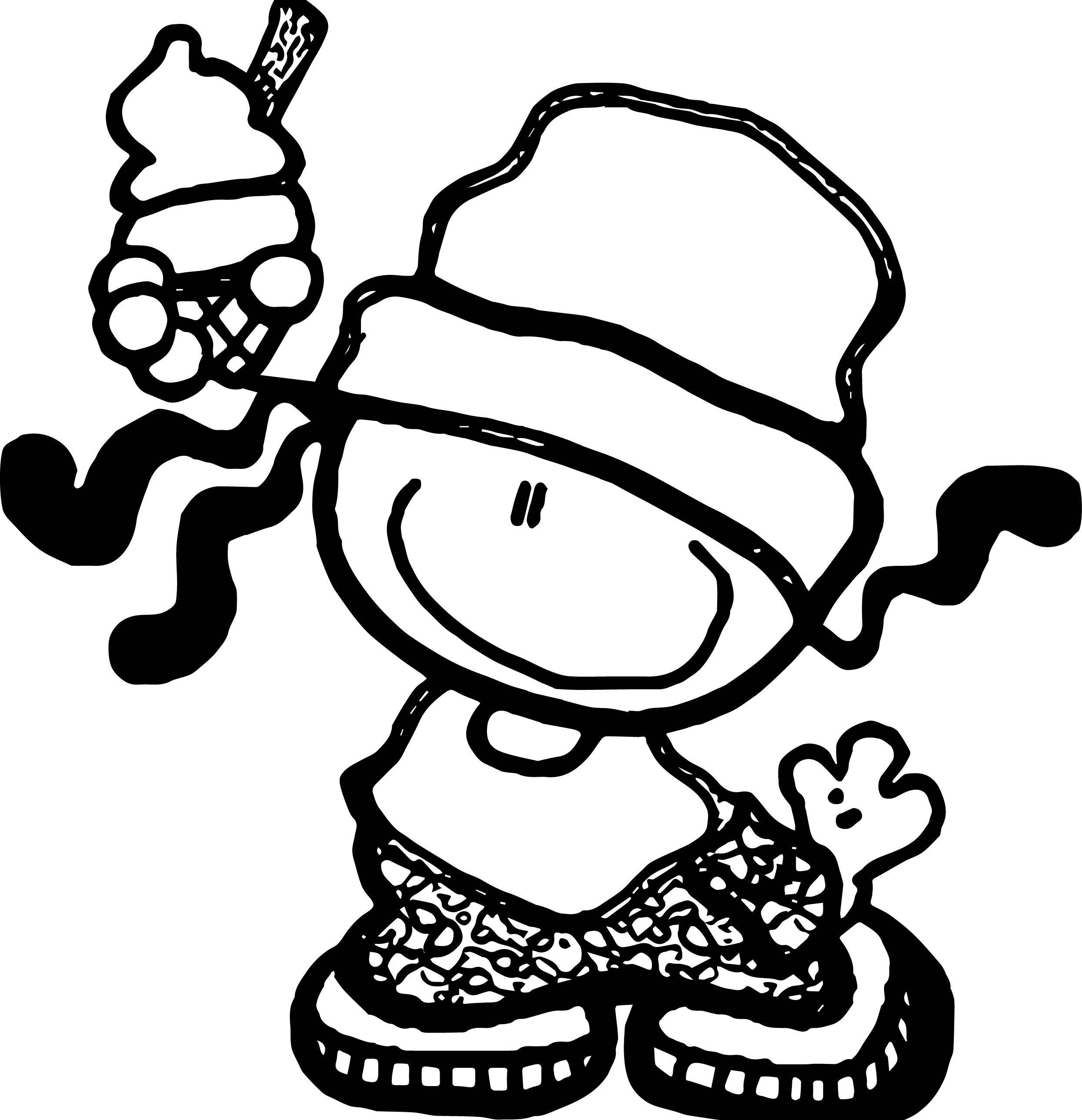 cool Bubblegum Kids Ice Cream Coloring Page  Ice cream coloring
