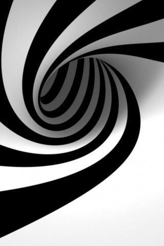 Hypnotize Iphone 5 Wallpaper Black And White Design Black And White Optical Illusions