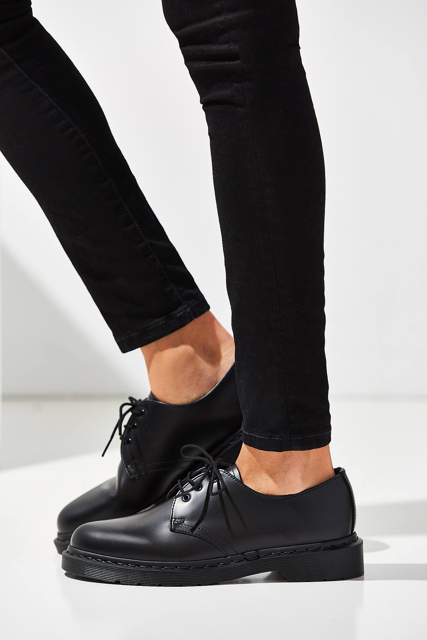 Dr. Martens 1461 Mono 3 Eye Oxford, $115   Urban Outfitters