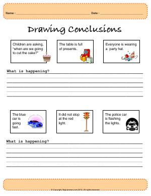 Drawing Conclusions Kindergarten Worksheets