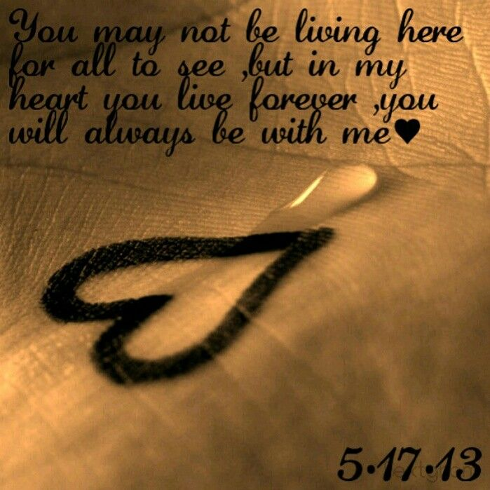 ♥You may not be living here for all to see ,but in my heart you