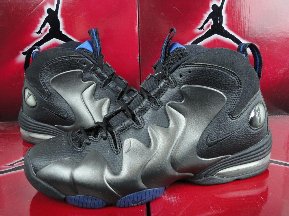 d69c472c6d4 2008 Nike Air Penny 3 III Retro Black Varsity Royal 304845-002 Sz 10 Away  Liquid in Athletic