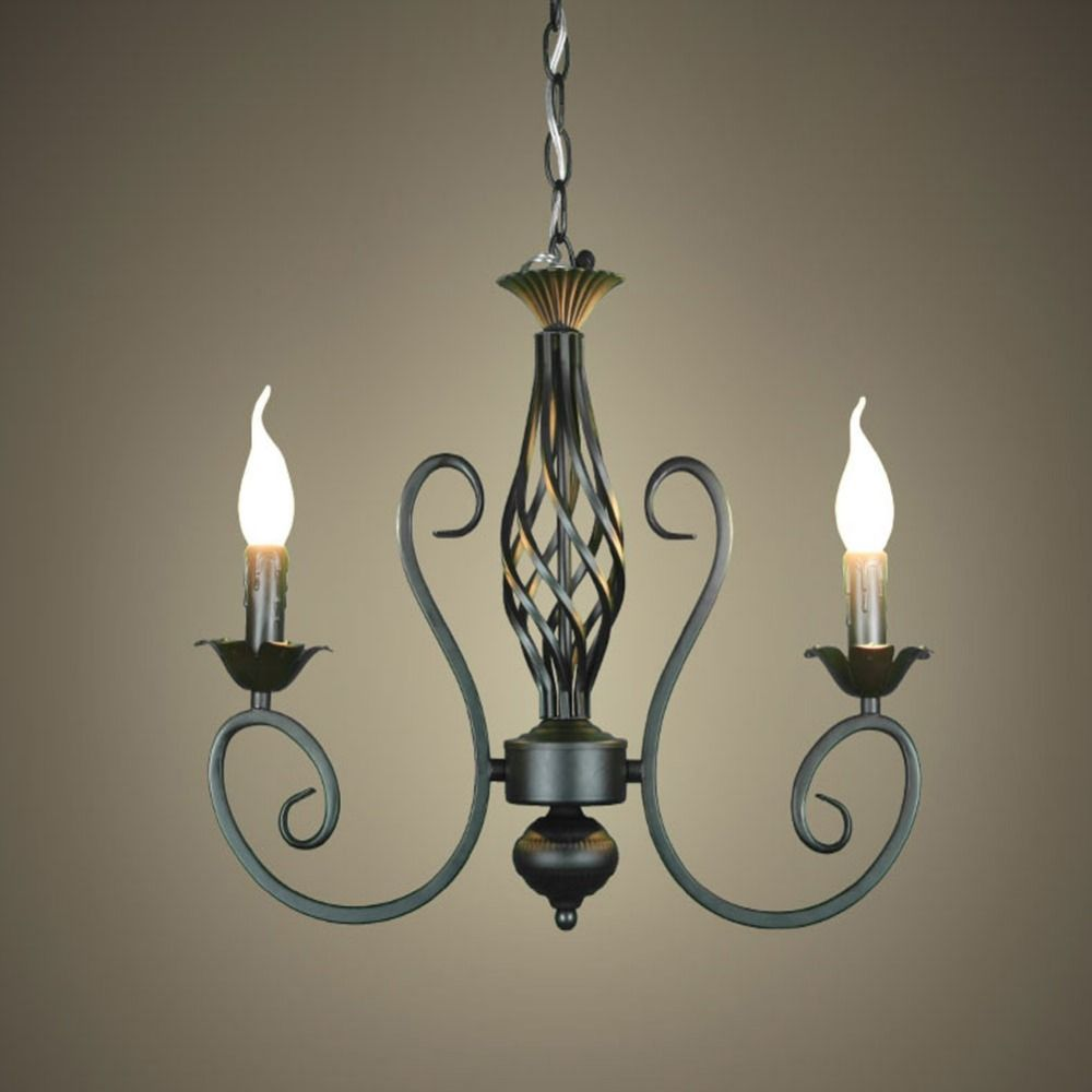 Free shippingrustic wrought iron chandelier e142pcs led light rustic wrought iron chandelier e142pcs led light black candelabra vintage antique aloadofball