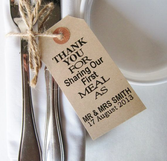 50 Rustic Wedding Napkin Ties Table Decor Vintage Style Tags Thank You For Sharing Favors Weddings