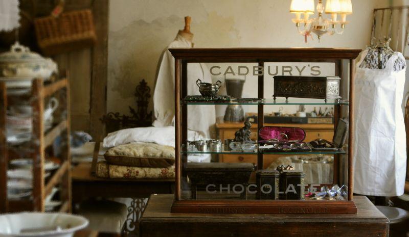 アンティークガラスディスプレイケース Cadbury S Chocolate キャドバリー イギリス 室内装飾 キャドバリー ディスプレイ